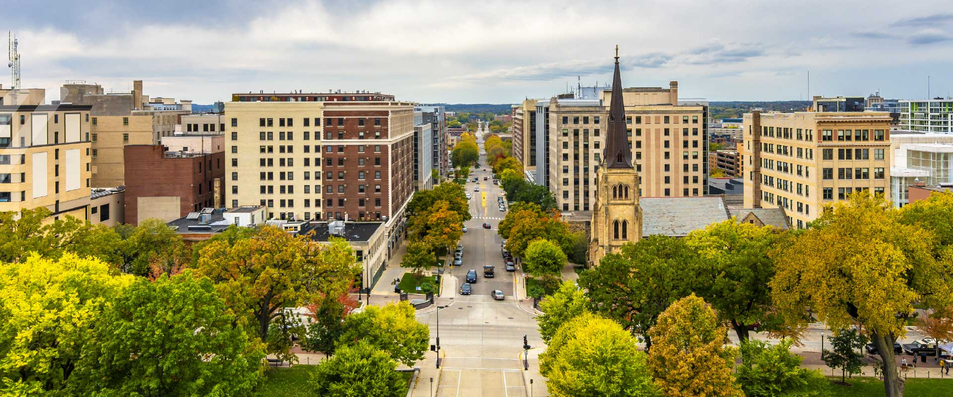 Madison, Wisconsin city scape