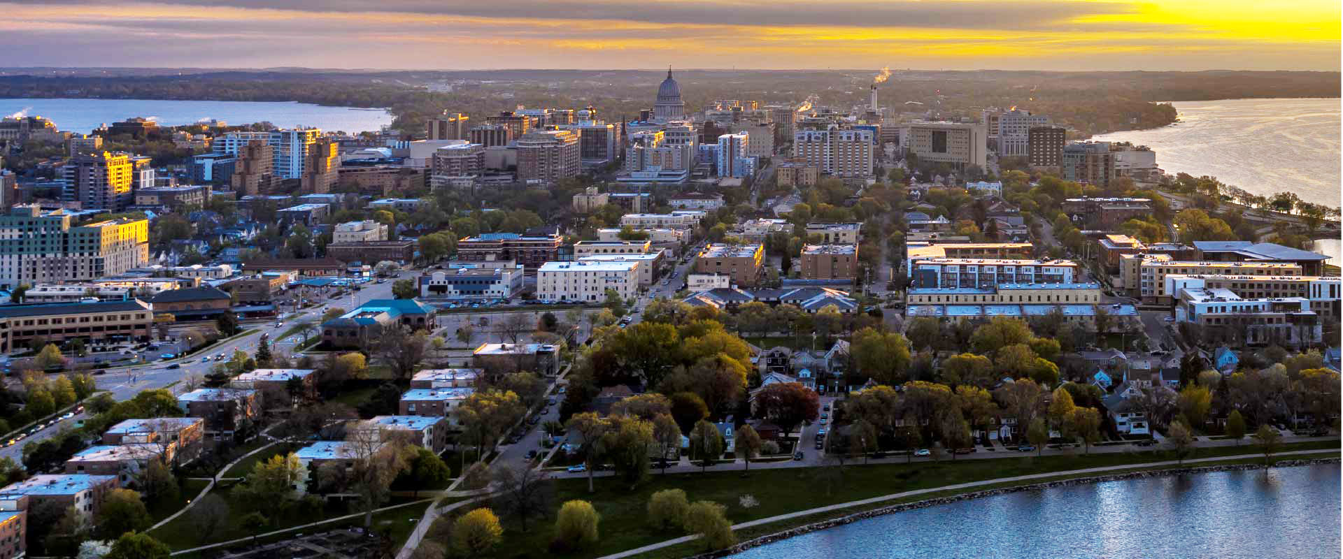 Madison, Wisconsin and lakes